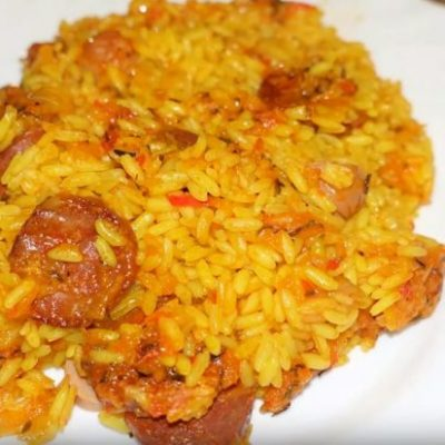 Arroz, arroz thermomix, arroz con chorizo, recetas thermomix, arroz a lo pobre thermomix, arroz thermomix