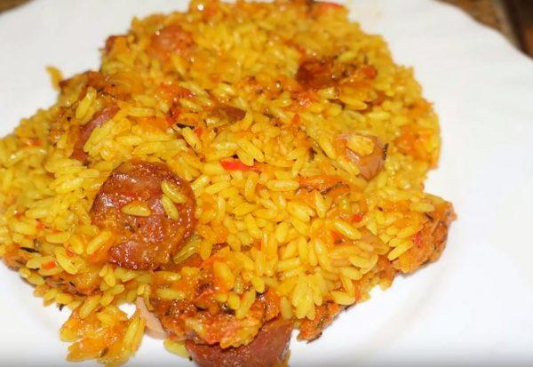 Arroz, arroz thermomix, arroz con chorizo, recetas thermomix