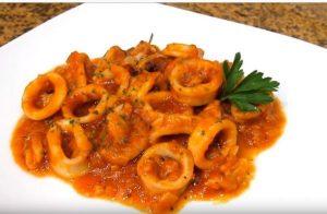Calamares, calamares robot de cocina, calamares receta, calamares con arroz, calamares con salsa, calamares faciles, receta calamares mambo, calamares mambo, recetas calamares mambo