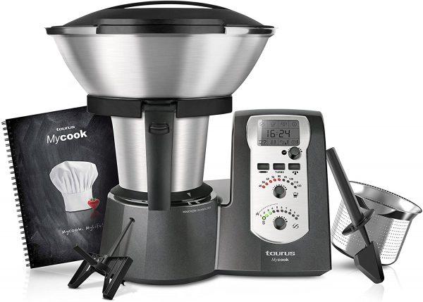 10 Velocidades 1600 W Pl/ástico Negro//Acero Inoxidable//Blanco 2 litros MYCOOK Easy Robot de Cocina Inteligente Multifunci/ón